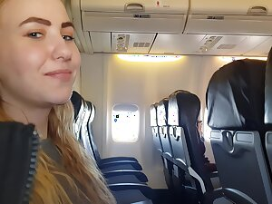 Talk about Airplane Handjob With the addition of Blowjob - Bella Mur